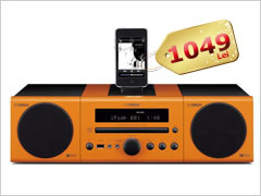 Sistem Audio Yamaha MCR-040, 2x15W, CD Player, FM Radio, USB port, iPod Dock