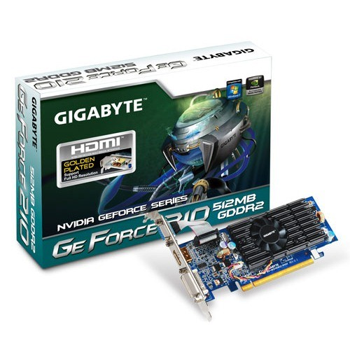 Placa video GIGABYTE Nvidia GeForce 210 512MB DDR2, 64bit, PCI-EX (N210OC-512I)
