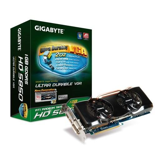Placa video GIGABYTE AMD ATI Radeon HD5850, 1024MB DDR5, 256bit, PCI-Ex (R585OC-1GD)