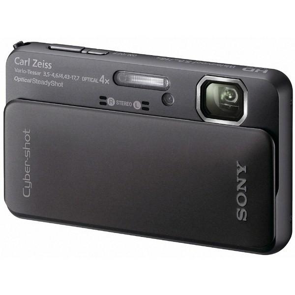 Aparat foto digital SONY TX10 negru, 16.2MP, zoom optic 4×, video Full HD, 3D (DSCTX10B.CEE8)