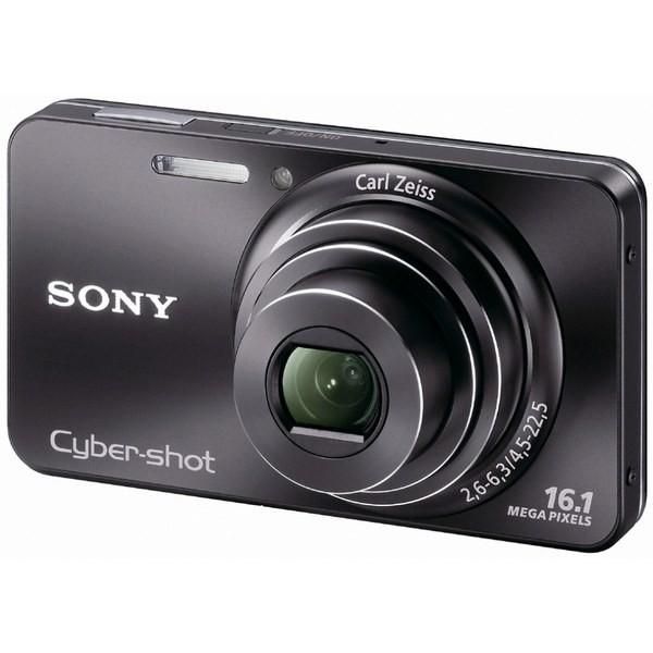 Aparat foto digital SONY W570 negru 16.1 MP, zoom optic 5×, video HD (DSCW570B.CEE8)