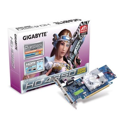 Placa video GIGABYTE AMD ATI Radeon HD4350, 512MB DDR2, 64bit, PCI-Ex (R435OC-512I)