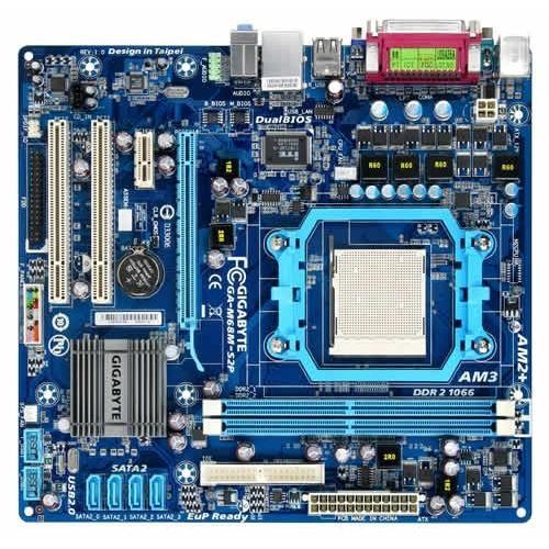 Placa de baza GIGABYTE M68M-S2P NVIDIA GF 7025/nF 630a, socket AM3