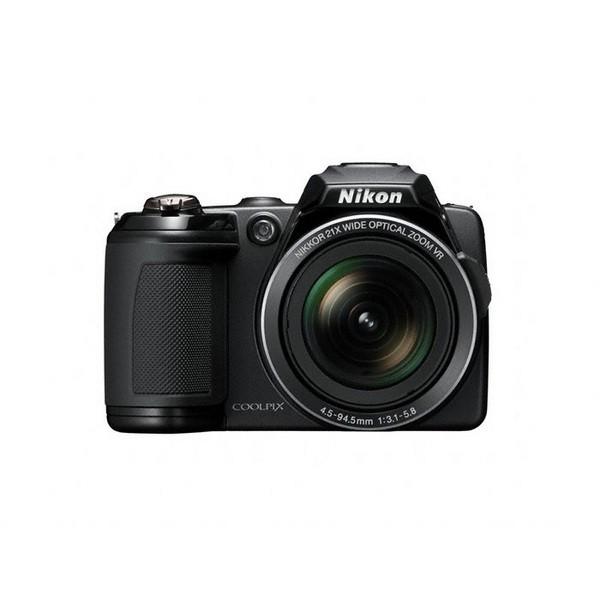 Aparat foto digital Nikon COOLPIX L120, 14.1MP, zoom optic 21×, video HD +Pachet cadou (card 4GB + geanta Nikon CS-P08 + incarcator Energizer cu 4 acumulatori) (COOLPIX L120 (black))