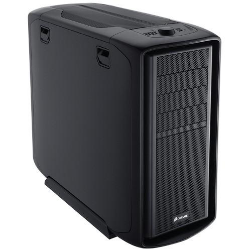 Carcasa CORSAIR Graphite 600T, Mid-Tower Case (USB/FireWire/Audio), ATX, mATX, 2x200mm-White LED 1x120mm Fans, Steel Structure, Black, no PSU (CC600T)
