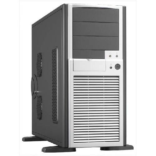 Carcasa Chieftec Smart Miditower (USB/Firewire/Audio), No PSU, mATX, ATX, EATX, 3x5.25 1x3.5, Black/Silver (SH-01B-B-SL-OP)