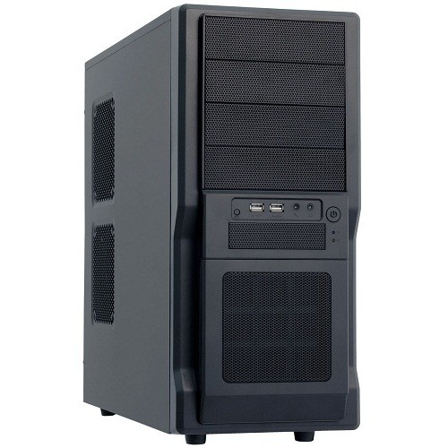 Carcasa Chieftec GIGA Miditower (USB/Audio), mATX, ATX, 4x5.25 1x3.5, Black (DF-02B-OP)