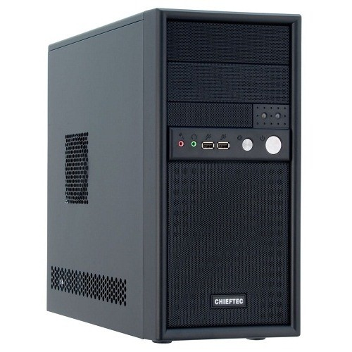Carcasa Chieftec MESH Minitower (USB/Audio), 355W PS II, mATX, 2x5.25 1x3.5, Black (CD-01B-B-355)