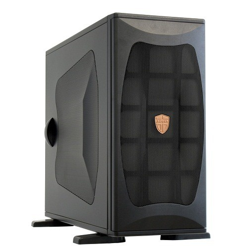 Carcasa Chieftec AEGIS L-Miditower (USB/Firewire/Audio), no PSU, mATX, ATX, EATX, 3x5.25, 1x3.5, Black (CH-05B-B-OP)