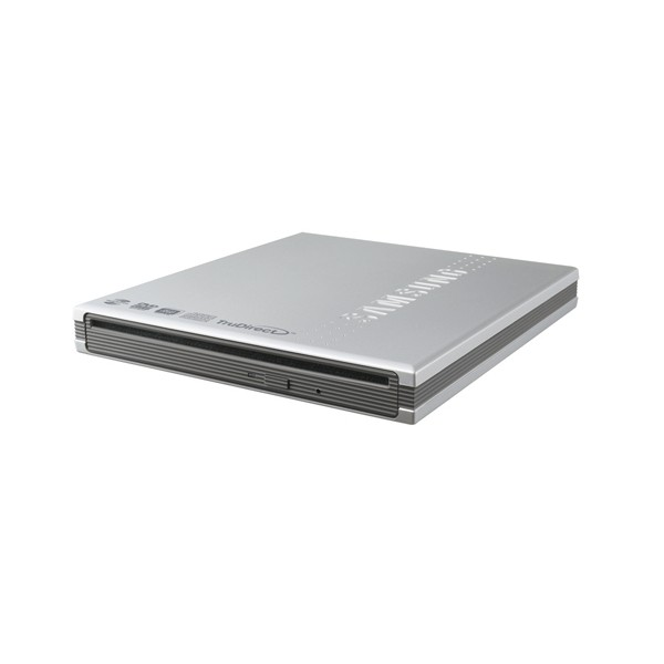 Unitate optica SAMSUNG DVD+/-RW 8x, Lightscribe, Extern, argintiu, Retail, slim, Buffer Under Run technology, USB 2.0, Retail (SE-T084P/RSSF)