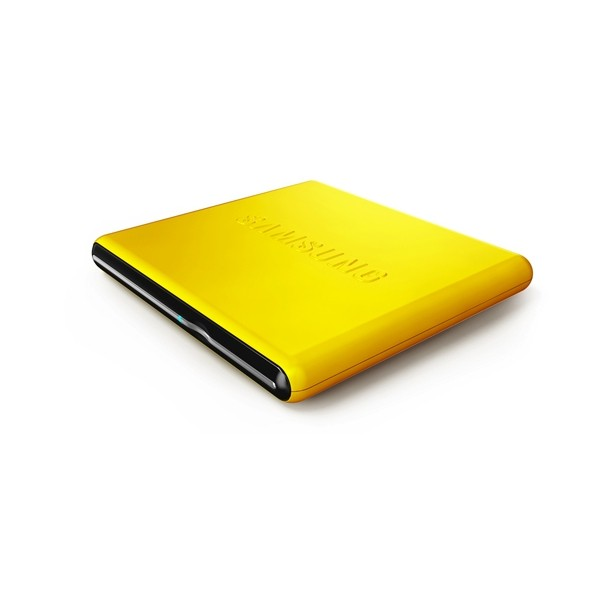 Unitate optica SAMSUNG DVD+/-RW 8x, Extern, galben, slim, Buffer Under Run technology, USB 2.0, Retail (SE-S084D/TSYS)