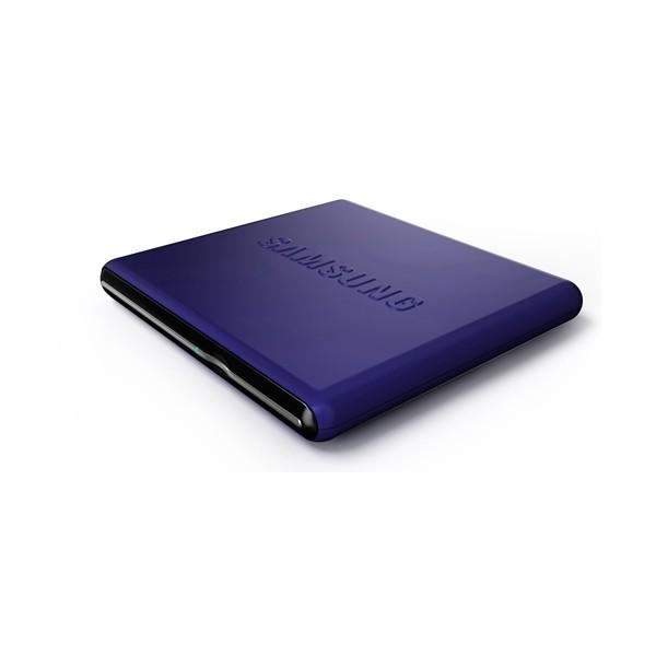 Unitate optica SAMSUNG DVD+/-RW 8x, Extern, Retail, slim, Buffer Under Run technology, USB 2.0, albastru (SE-S084D/TSLS)