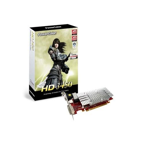 Placa video PowerColor AMD ATI Radeon HD3450, 512MB DDR2, 64bit, PCI-Ex (AX3450 512MD2-H)