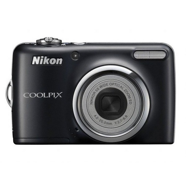 Aparat foto digital Nikon COOLPIX L23, 10MP, zoom optic 5×, video VGA + Pachet cadou (Card SD 2GB, Husa, Încărcător, 2x Acumulatori AA)  (COOLPIX L23 (black))