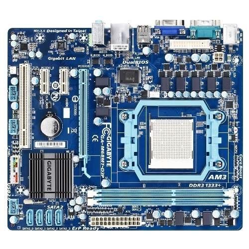 Placa de baza GIGABYTE M68MT-D3P NVIDIA GF 7025/nF 630a, socket AM3