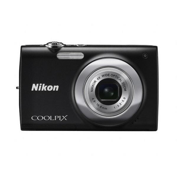 Aparat foto digital Nikon COOLPIX S2500, 12MP, zoom optic 4×, video VGA + Pachet: card 4GB + geanta Promo Pounch S series (ALM2300BV) (COOLPIX S2500 (black))