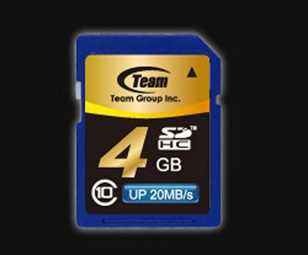 Memorie flash card TEAMGROUP TG004G0SD28X 4GB Secure Digital Card SDHC, Class 10