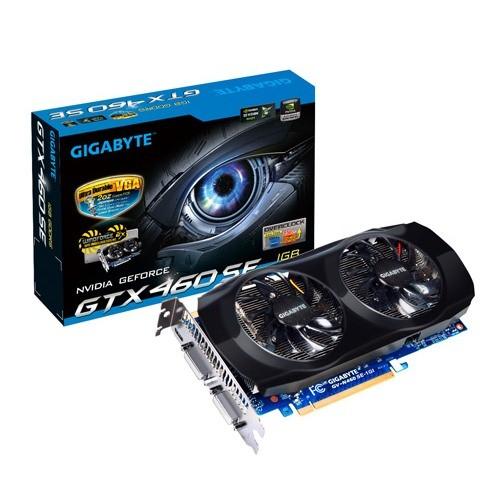 Placa video GIGABYTE Nvidia GeForce GTX460 1024MB DDR5, 256bit, PCI-EX (N460SE-1GI)