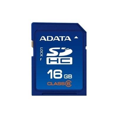 Memorie flash card ADATA ASDH16GCL6-R 16GB Secure Digital SDHC Class 6