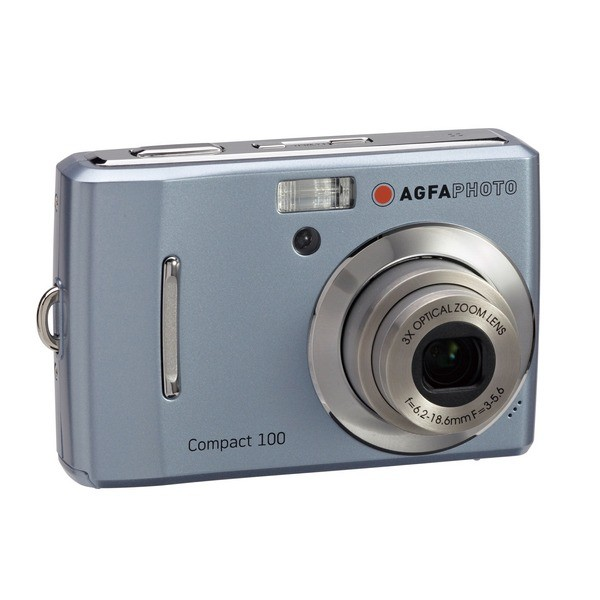 Aparat foto digital AGFAPHOTO COMPACT-100, 10MP, albastru, 3x/5x zoom optic/digital (COMPACT-100-BL)
