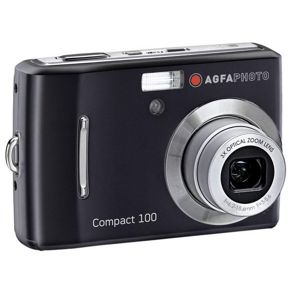 Aparat foto digital AGFAPHOTO COMPACT-100, 10MP, negru, 3x/5x zoom optic/digital (COMPACT-100-BK)