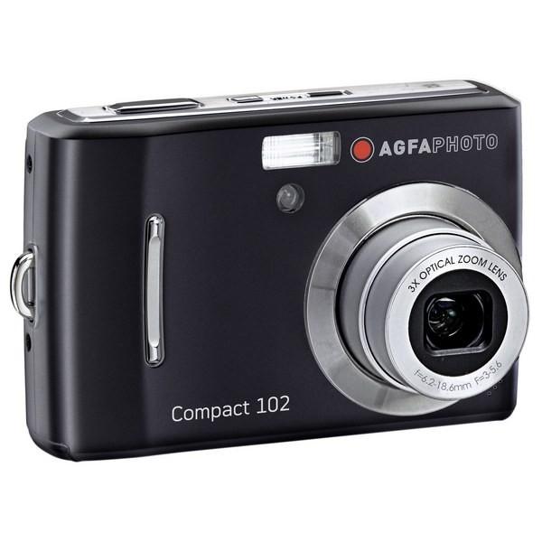Aparat foto digital AGFAPHOTO COMPACT-102, 12MP, negru, 3x/5x zoom optic/digital (COMPACT-102)