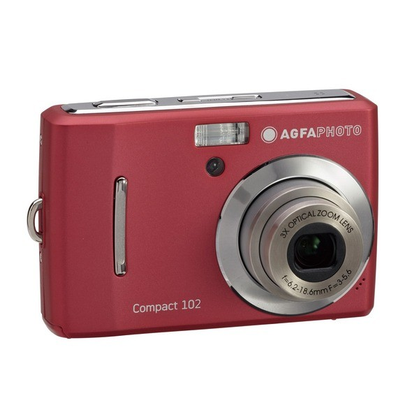 Aparat foto digital AGFAPHOTO COMPACT-102, 12MP, roşu, 3x/5x zoom optic/digital (COMPACT-102-RED)