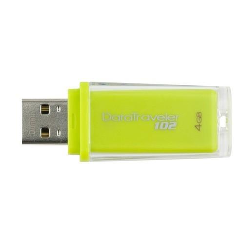 USB flash drive Kingston 4GB USB 2.0 Hi-Speed DataTraveler 102 (verde) (DT102/4GB)