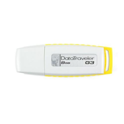 USB flash drive Kingston 8GB USB 2.0 DataTraveler, Gen3, alb and galben (DTIG3/8GB)