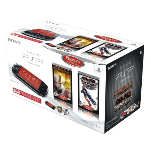 Consola SONY PlayStation Portable Black + joc Tekken Dark Resurrection + joc God of War: Chains of Olympus (SO-9152972)