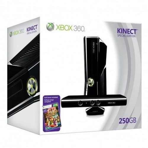 Consola MICROSOFT XBOX 360 Premium System 250GB + Kinect (S7G-00013)