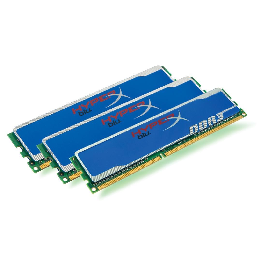 Memorie Kingston  3GB DDR3 2000MHz (Kit of 3) XMP HyperX (KHX2000C9AD3K3/3GX)