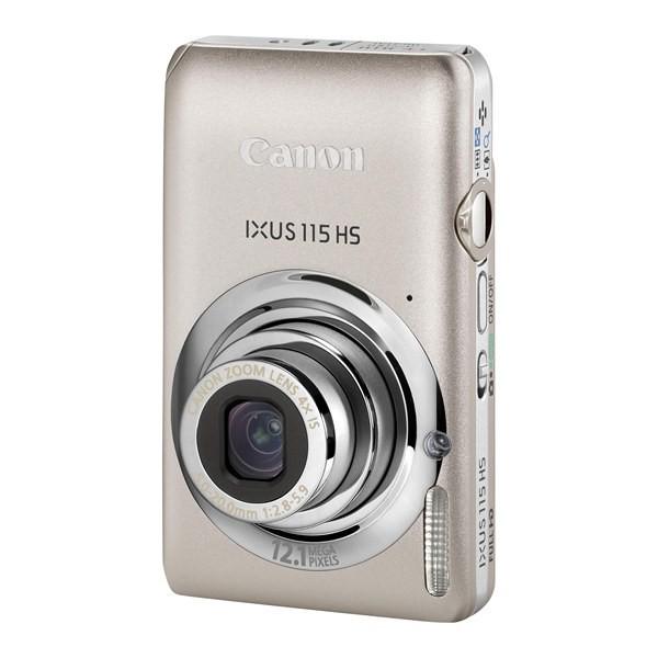 Aparat foto digital CANON Digital IXUS, 115HS, argintiu, 12.1MP, zoom optic 4×, video Full HD, HDMI (AJ4929B001AA)