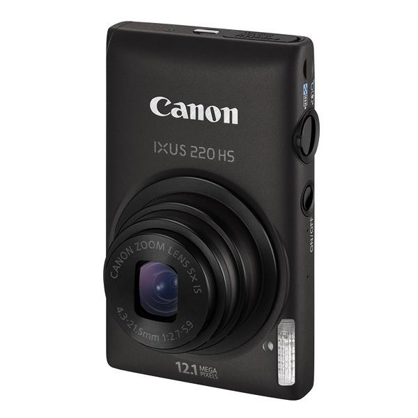 Aparat foto digital CANON IXUS 220HS negru, HS System 12.1 MP, zoom optic 5×, video Full HD, HDMI (AJ5099B001AA)