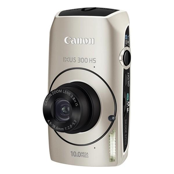 Aparat foto digital CANON IXUS 300HS argintiu, 10.0 MP CMOS, zoom optic 3,8×, video HD, HDMI (AJ4438B001AA)