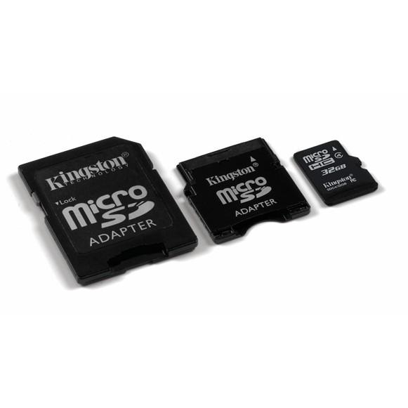 Memorie flash card Kingston SDC4/32GB-2ADP 32GB microSDHC Class 4, adaptor