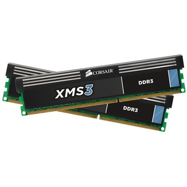 Memorie CORSAIR  8GB DDR3 1333MHz (Kit 2×4) radiator XMS (CMX8GX3M2A1333C9)