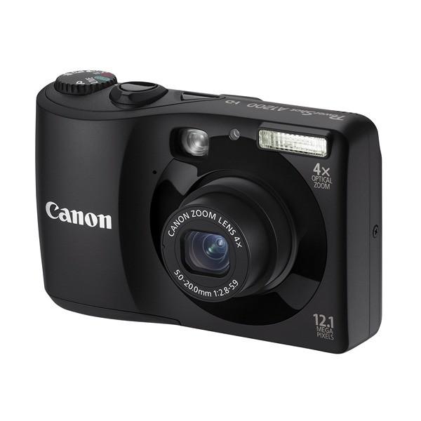 Aparat foto digital CANON PowerShot A1200 negru + Pachet: incarcator + acumulatori Philips, card 2 GB, geanta CaseLogic (AJ5032B002AA)