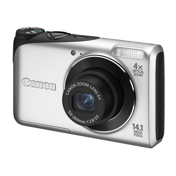 Aparat foto digital CANON PowerShot A2200 argintiu 14.1MP, zoom optic 4×, video HD + Pachet: card 2 GB + geanta CaseLogic  (AJ4941B002AA-K)