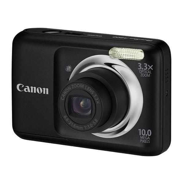 Aparat foto digital CANON  PowerShot A800 negru 10.0MP, zoom optic 3.3×, video VGA+ Pachet: încarcator + acumulatori Philips, card 2 GB, geanta CaseLogic (AJ5030B002AA-K)