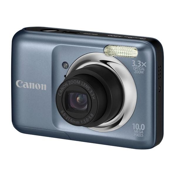 Aparat foto digital CANON  PowerShot A800 argintiu 10.0MP, zoom optic 3.3×, video VGA + Pachet: incarcator + acumulatori Philips, card 2 GB, geanta CaseLogic (AJ5027B002AA-K)