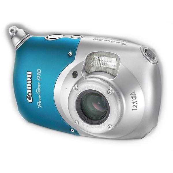 Aparat foto digital CANON PowerShot D10 12.1 MP, zoom optic 3×, video VGA (AJ3508B002AA)