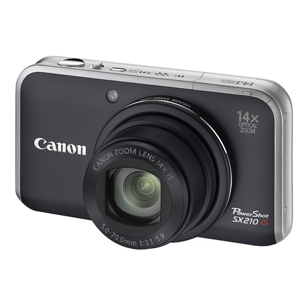 Aparat foto digital CANON PowerShot SX210IS negru 14.1MP, zoom optic 14×, video HD, HDMI (AJ4246B002AA)
