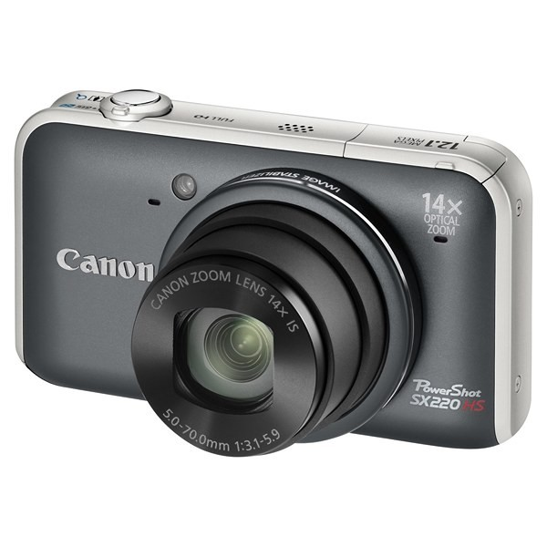 Aparat foto digital CANON PowerShot SX220HS gri 12.1MP, zoom optic 14×, video Full HD (AJ5046B002AA)