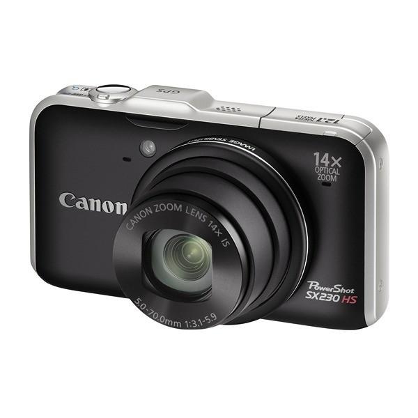 PowerShot SX230HS negru 12.1MP, zoom optic 14×, video Full HD