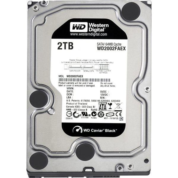 Hard-disk Western Digital  2TB Caviar Black, 7200rpm, 64MB, SATA3 (WD2002FAEX)