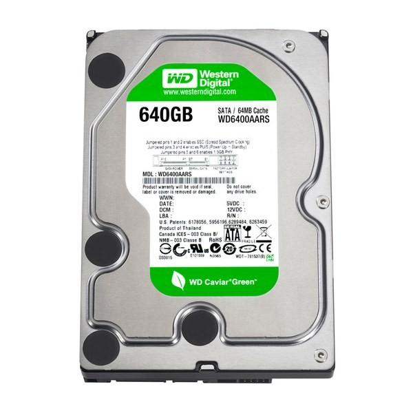 Hard-disk Western Digital  640GB Caviar Green, 5400rpm, 64MB, SATA2 (WD6400AARS)
