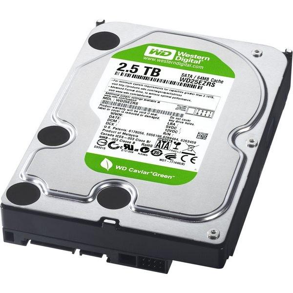 Hard-disk Western Digital  2.5TB Caviar Green, 5400rpm, 64MB, IntelliPower, SATA2  (WD25EZRSDTL)