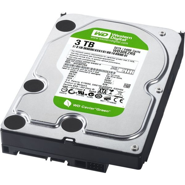 Hard-disk Western Digital  3TB Caviar Green, 5400rpm, 64MB, IntelliPower, SATA2 (WD30EZRSDTL)