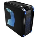Carcasa RAIDMAX QUANTUM Black, Clear Side Window, Blue-Led Fans Side/Front/Rear 5x12cm 1x8cm, USB 2.0 and Audio ports (RMX-QNT)